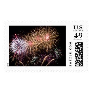 Fireworks Postage Stamp