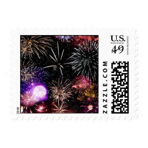 Fireworks Postage Stamps