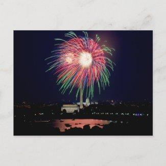 Fireworks Postcard postcard