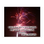 Fireworks Quote Post Card