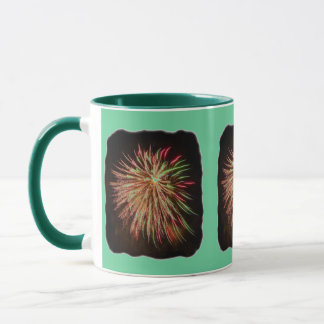 Fireworks rainbow Mug - customized