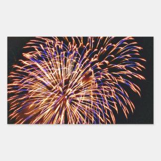 Fireworks Rectangular Sticker