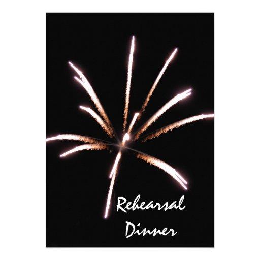 Fireworks Rehearsal Dinner Invitation