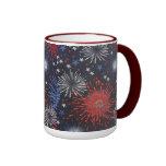 Fireworks Ringer Coffee Mug