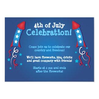 Fireworks Rocket 4th of July Invitation