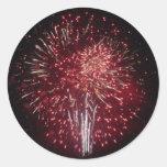 Fireworks Round Sticker