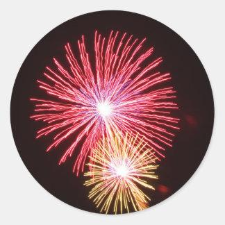 Fireworks Round Stickers
