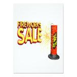 "Fireworks Sale 5"" X 7"" Invitation Card"