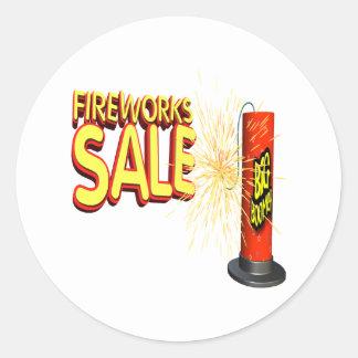 Fireworks Sale Classic Round Sticker