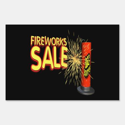 Fireworks Sale Signs
