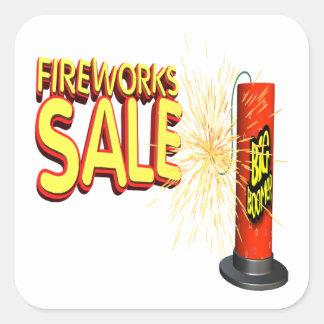 Fireworks Sale Square Sticker