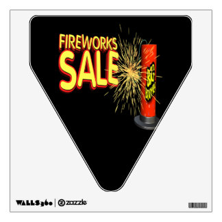 Fireworks Sale Wall Sticker