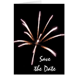 Fireworks Save the Date Announcement Cards
