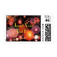 fireworks Save the Date Postage