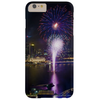 Fireworks Show in Boat Quay Singapore City Skyline Barely There iPhone 6 Plus Case