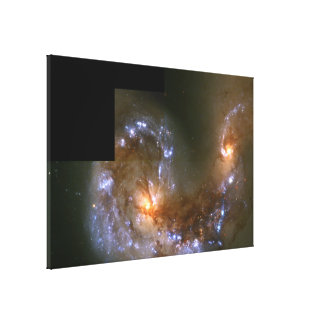 Fireworks Show in Collision of Antennae Galaxies Canvas Print