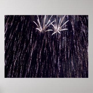 Fireworks Shower Poster
