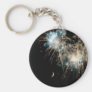 Fireworks Shower the Moon Keychain