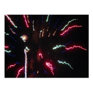 Fireworks Sizzle Postcard