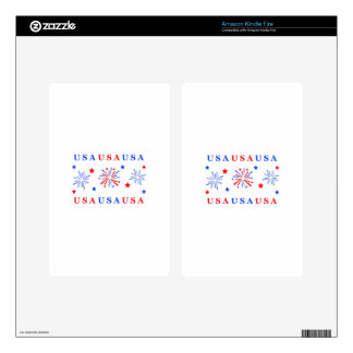 FIREWORKS KINDLE FIRE DECAL