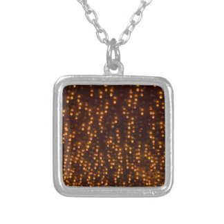 Fireworks Sky Bright Lights Independence Day Silver Plated Necklace
