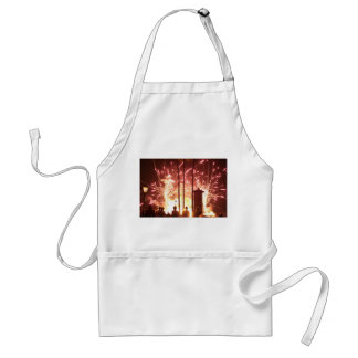 fireworks sparking people trees in florida adult apron