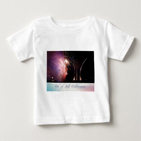 Fireworks Sparkling the Spires Baby T-Shirt