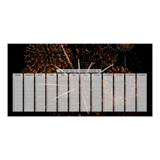 Fireworks Special Days to Remember Calendar Print