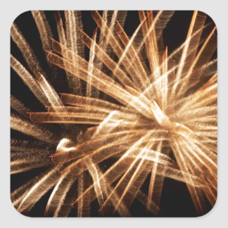 fireworks square sticker