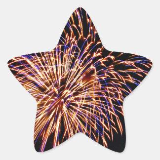 Fireworks Star Sticker