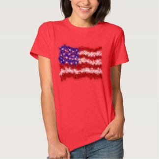 Fireworks Stars and Stripes American Flag Shirt
