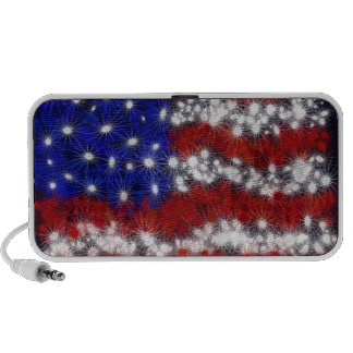 Fireworks Stars and Stripes American Flag Travelling Speakers