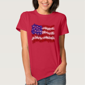 Fireworks Stars and Stripes American Flag T-shirt