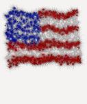 Fireworks Stars and Stripes American Flag T Shirt