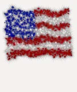 Fireworks Stars and Stripes American Flag Tee Shirts