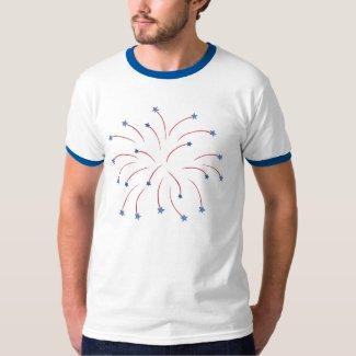 Fireworks Stars Patriotic Shirts