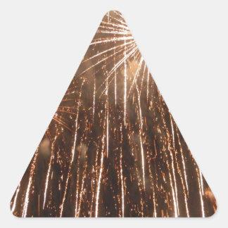 Fireworks Triangle Sticker