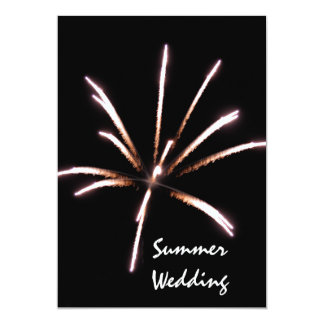 "Fireworks Summer Wedding Announcement 5"" X 7"" Invitation Card"