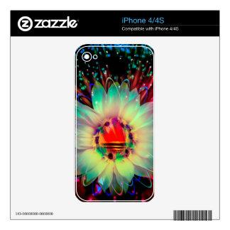 Fireworks sunflower iPhone 4S skins