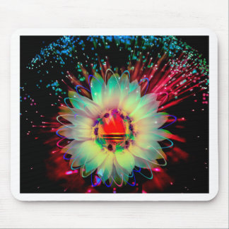 Fireworks sunflower mouse pad