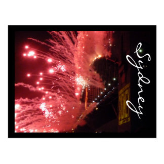 fireworks sydney postcard
