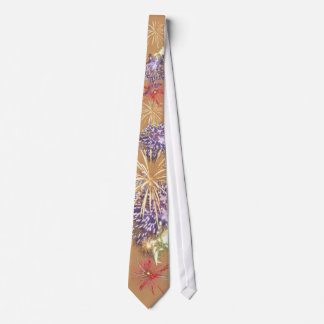 Fireworks Tan Tie 4th of July Independence Day