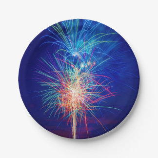Fireworks to the sun putting paper plate