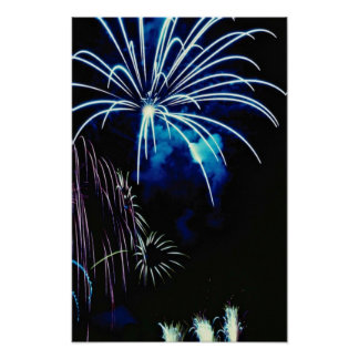Fireworks, Toronto, Ontario, Canada Poster