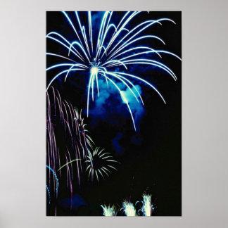 Fireworks, Toronto, Ontario, Canada Print