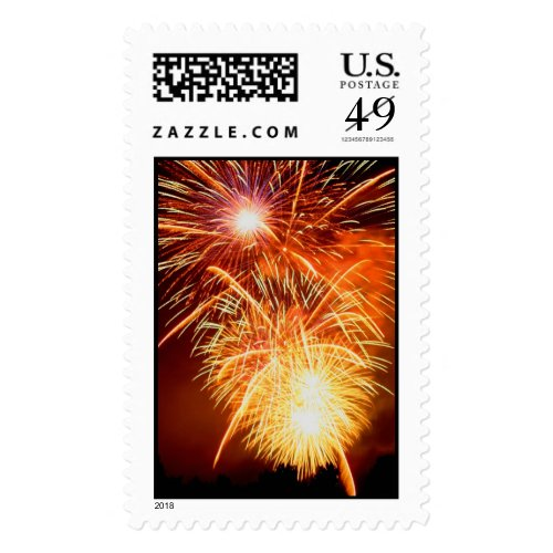 Fireworks Trio Postage