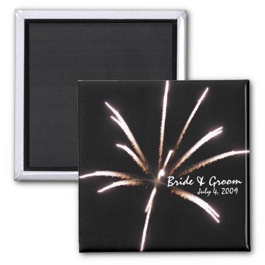 Fireworks Wedding Magnet