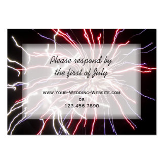 Fireworks Wedding RSVP Response Card Large Business Cards (Pack Of 100)