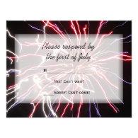 Fireworks Wedding RSVP Response Card Personalized Invite