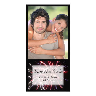 Fireworks Wedding Save the Date Card